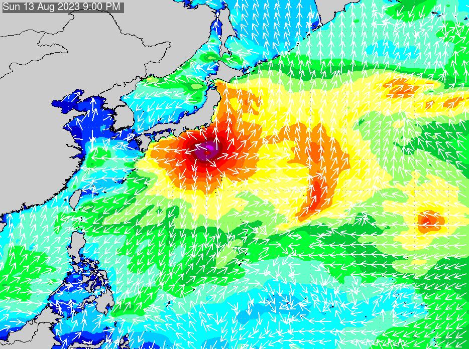 2019年6月25日(火)18:00の波浪画像