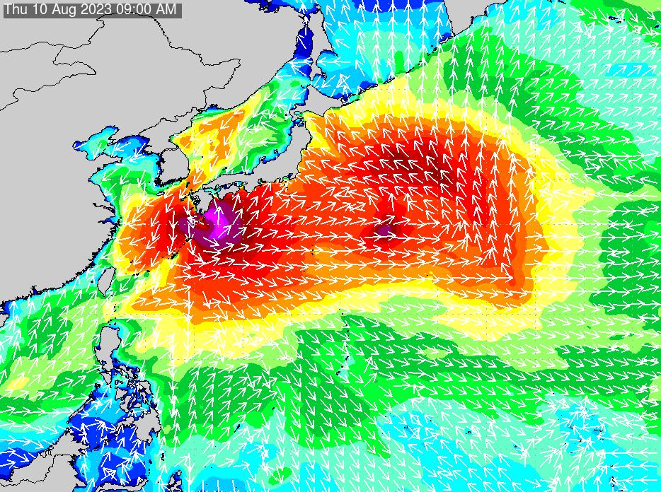 2019年9月27日(金)18:00の波浪画像