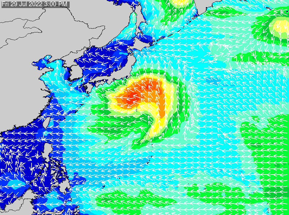 2019年11月23日(土)12:00の波浪画像