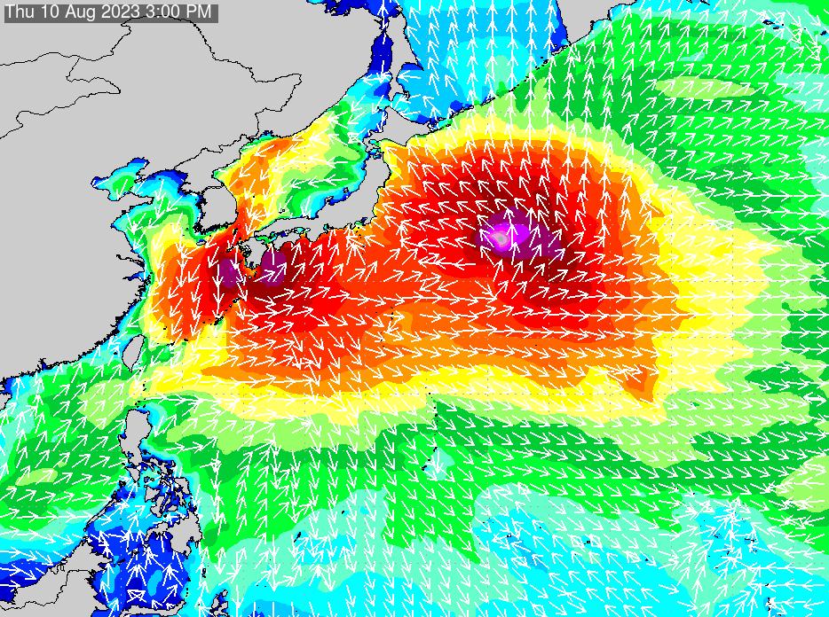 2019年11月23日(土)18:00の波浪画像