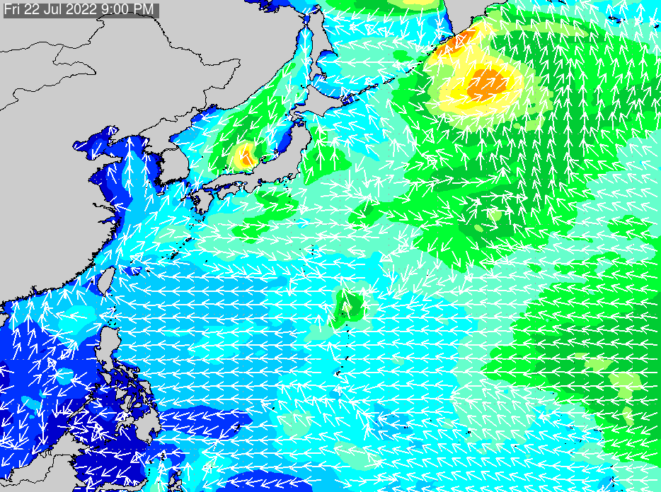 2019年6月20日(木)6:00の波浪画像
