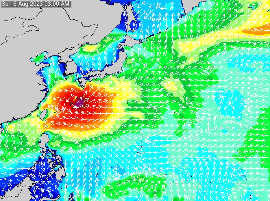 2019年6月21日(金)6:00の波浪画像