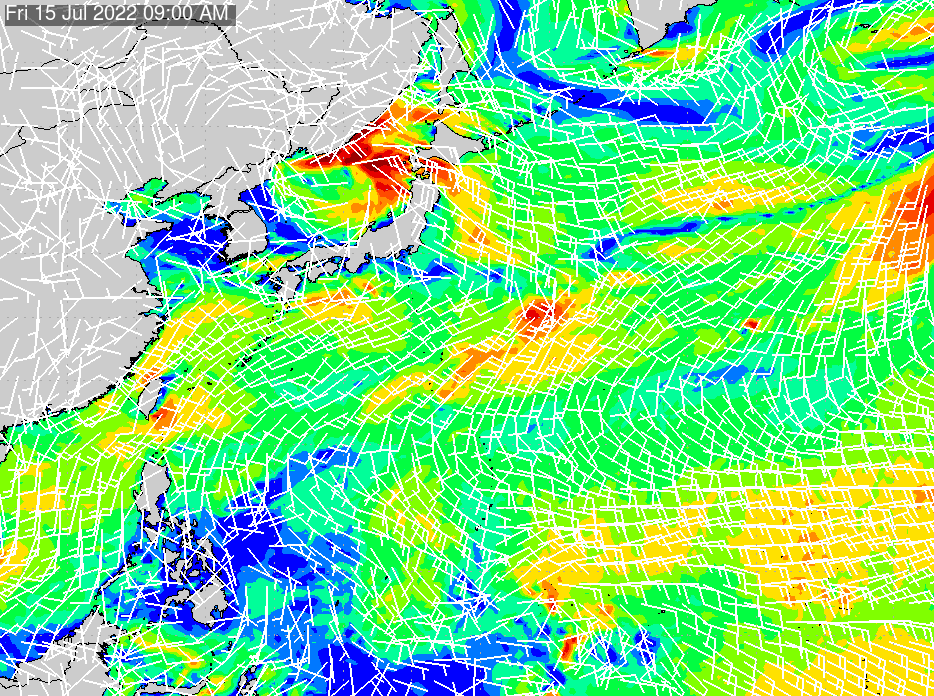 2020/7/15(水)3:00風速・風向