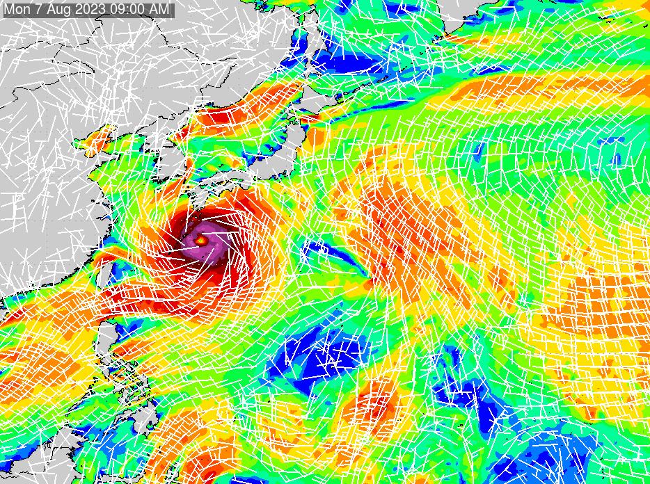 2021/4/12(月)3:00風速・風向