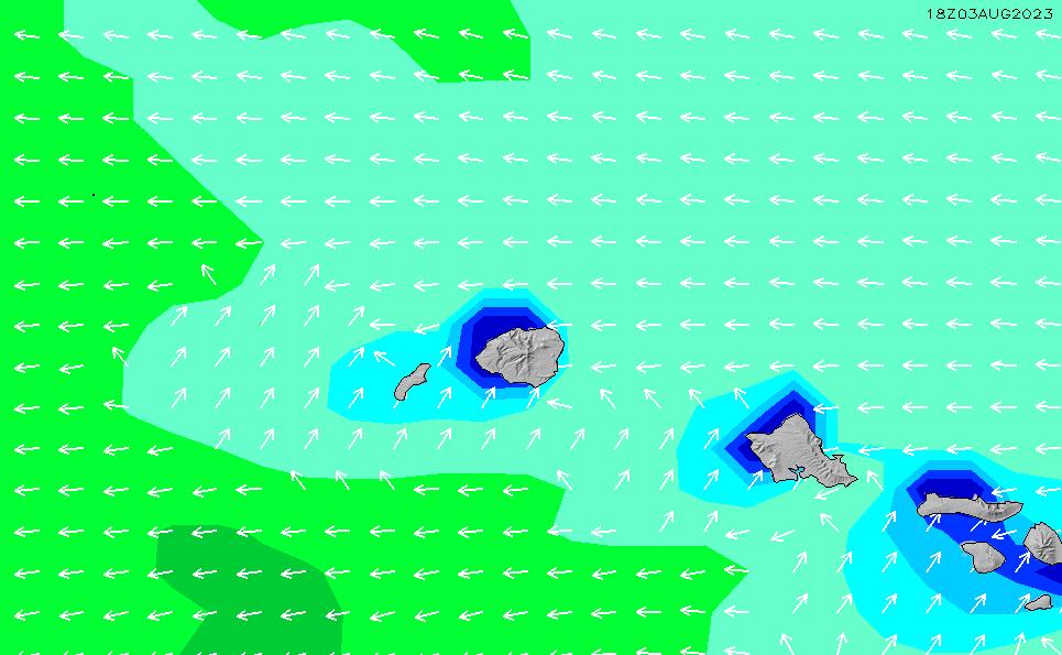 2020/9/23(水)22:00波高チャート