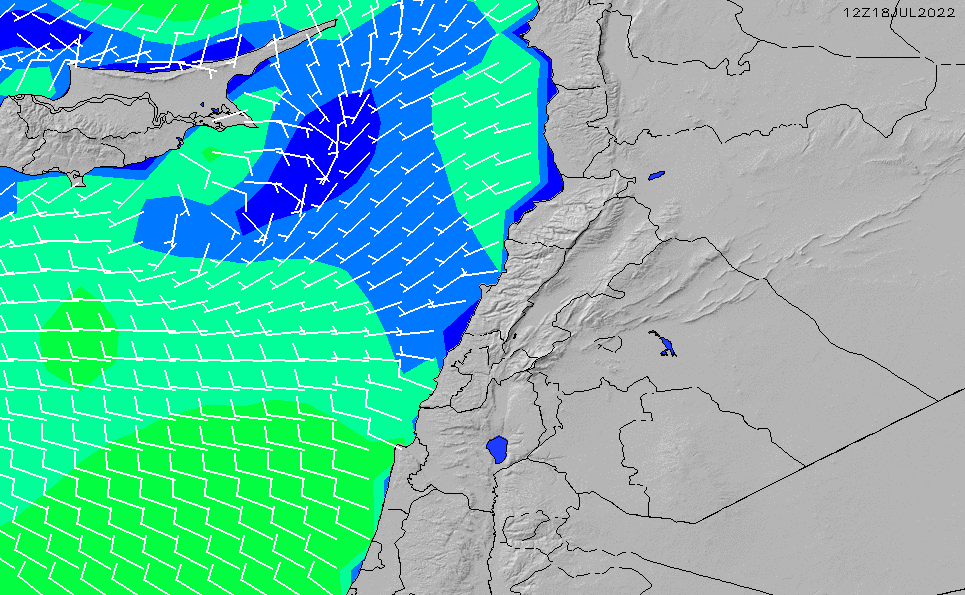 2020/9/23(水)21:00風速・風向