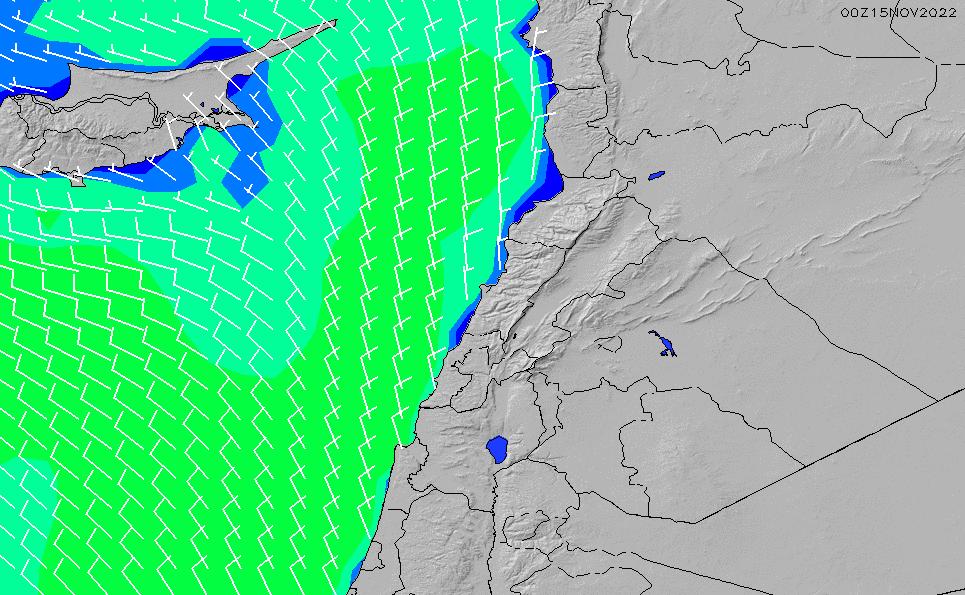 2021/3/2(火)8:00風速・風向