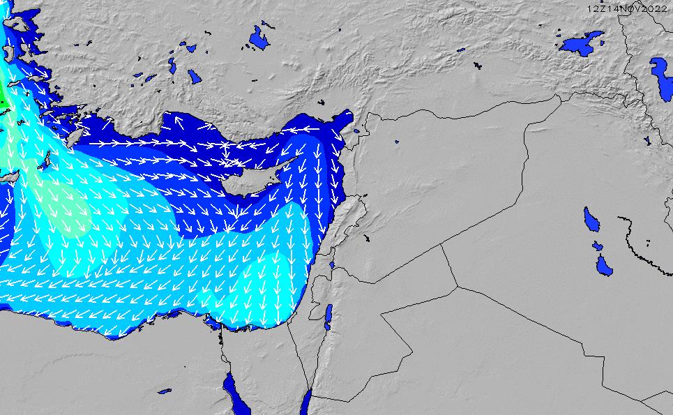 2020/4/1(水)21:00波高チャート