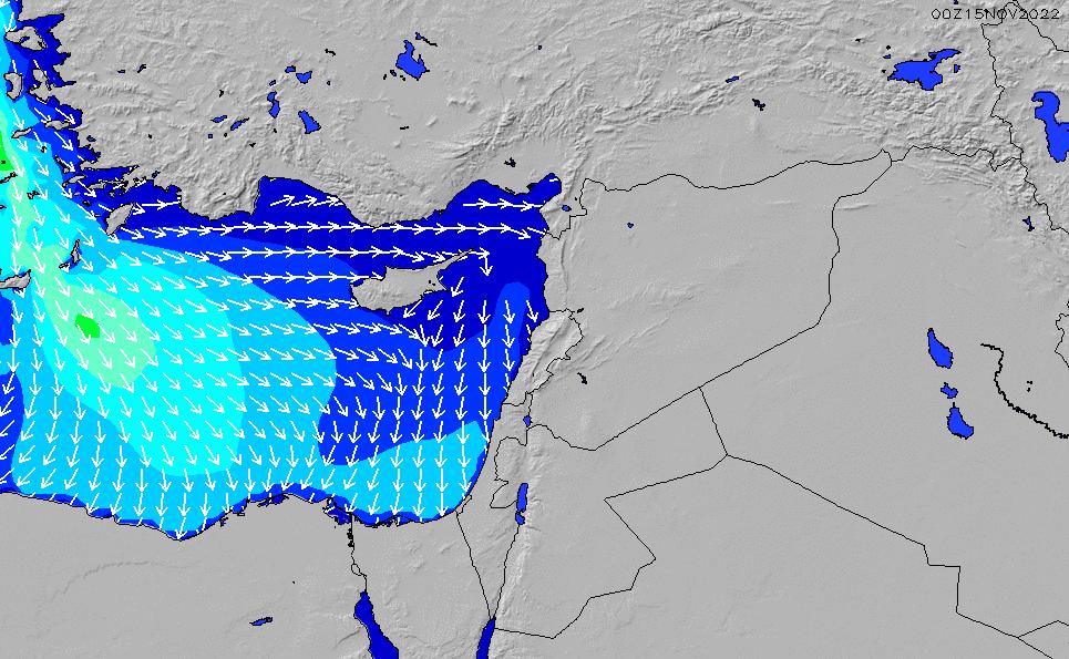 2021/3/2(火)8:00波高チャート