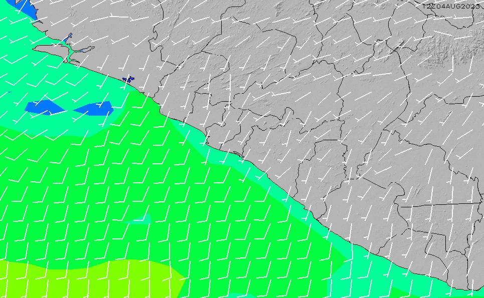 2020/3/29(日)6:00風速・風向