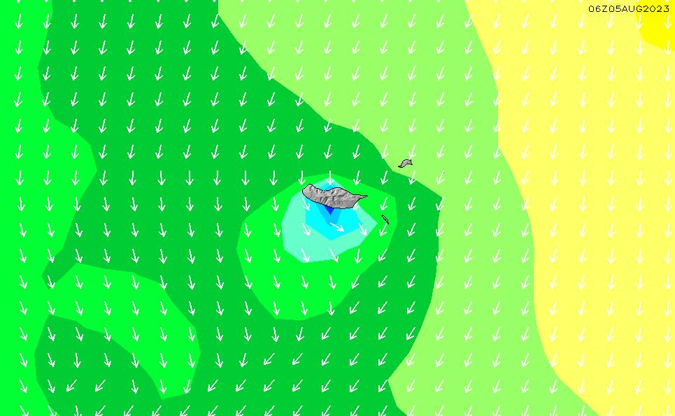 2021/3/2(火)6:00波高チャート