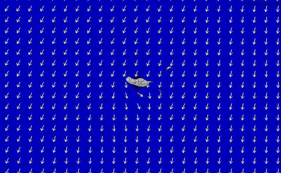 2020/10/2(金)13:00ポイントの波周期