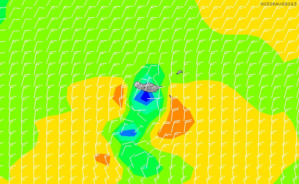 2021/7/27(火)19:00風速・風向