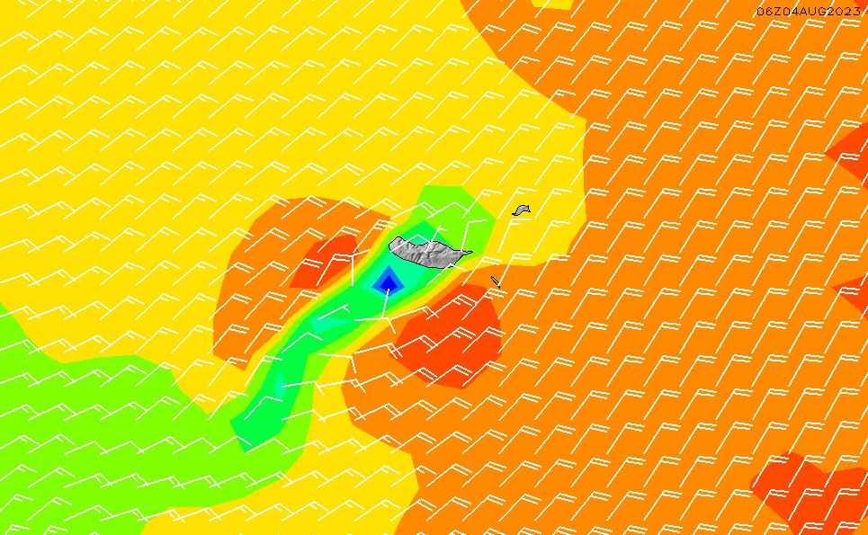 2020/10/2(金)13:00風速・風向
