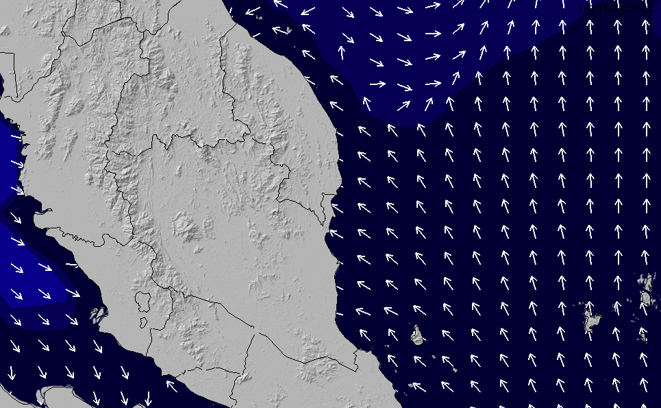 2021/3/8(月)14:00ポイントの波周期