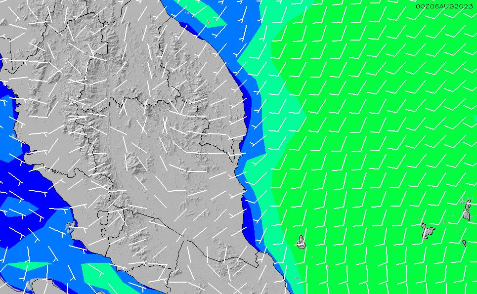 2021/3/8(月)14:00風速・風向