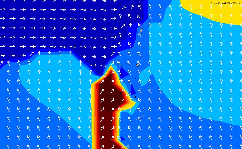 2021/10/19(火)5:00ポイントの波周期