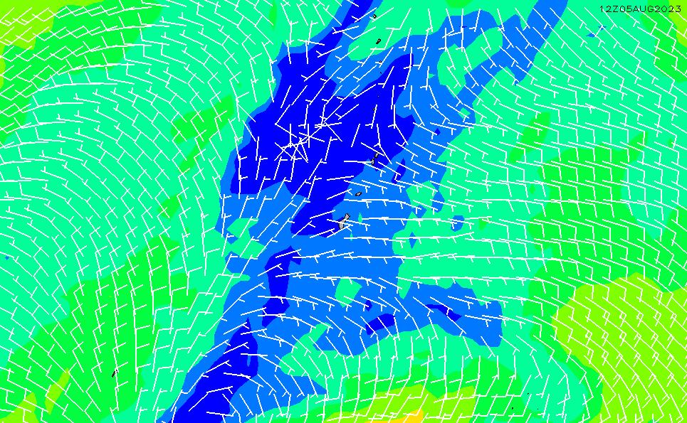 2021/3/4(木)4:00風速・風向