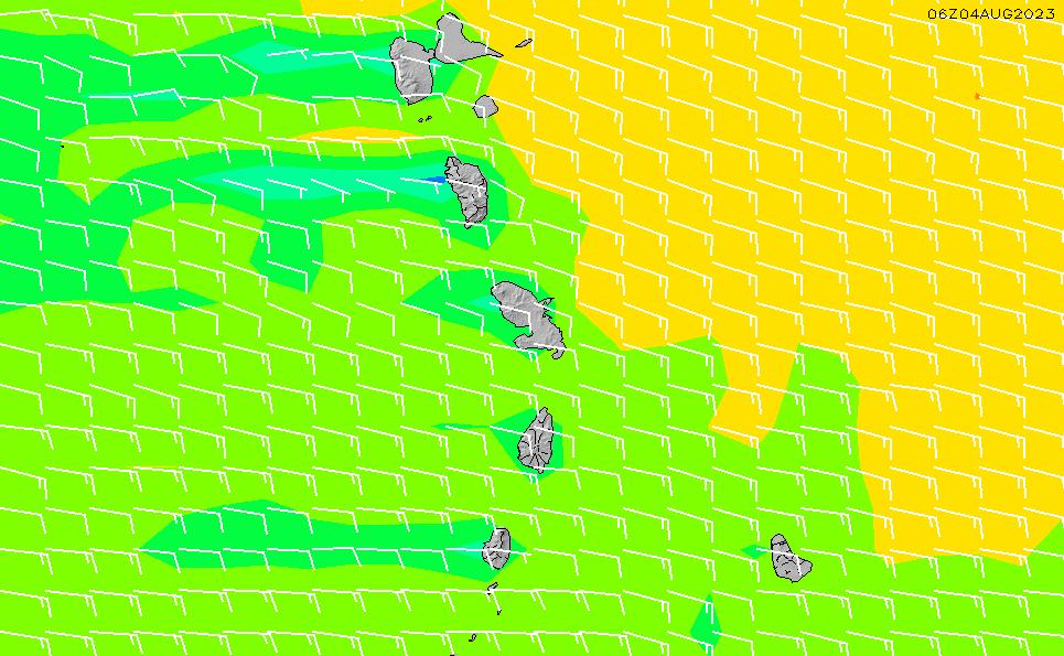 2020/9/30(水)22:00風速・風向