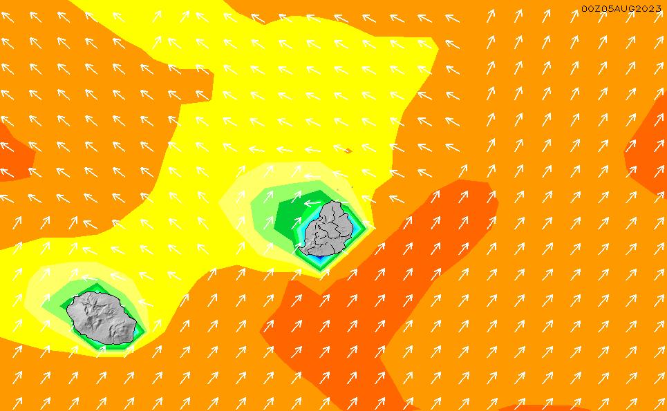 2020/8/5(水)4:00波高チャート
