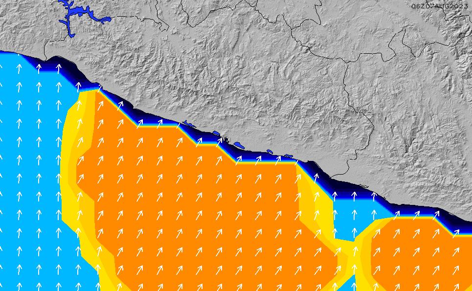 2021/1/19(火)12:00ポイントの波周期