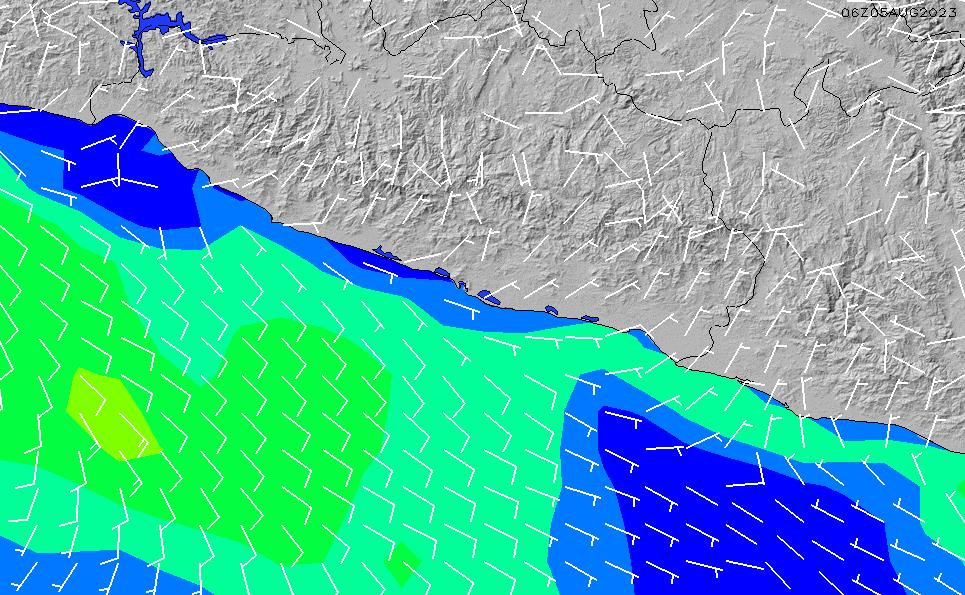 2021/4/12(月)17:00風速・風向
