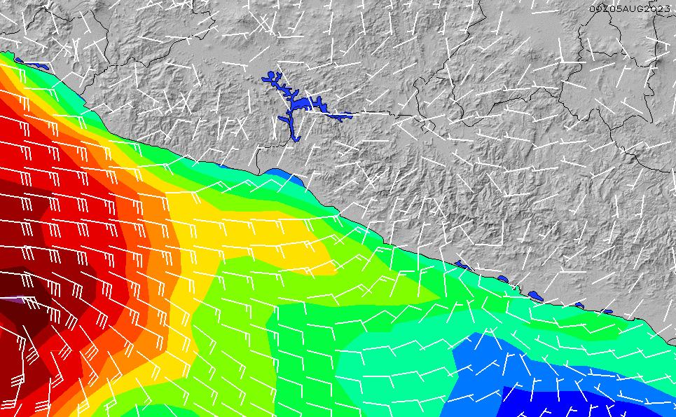 2020/9/19(土)5:00風速・風向