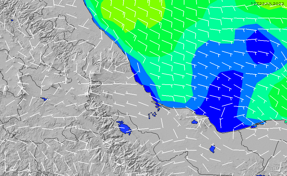 2020/9/23(水)5:00風速・風向