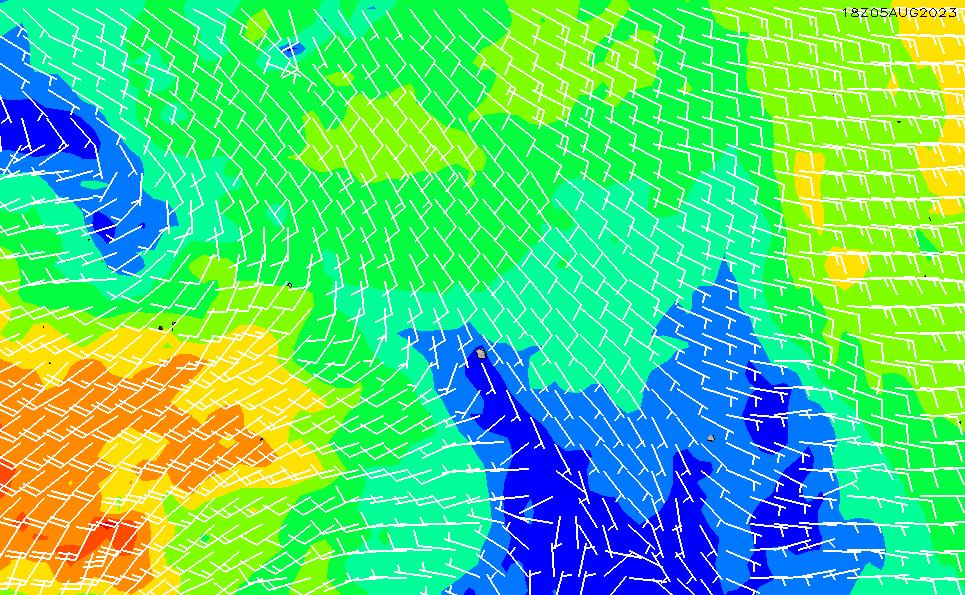2021/10/22(金)11:00風速・風向