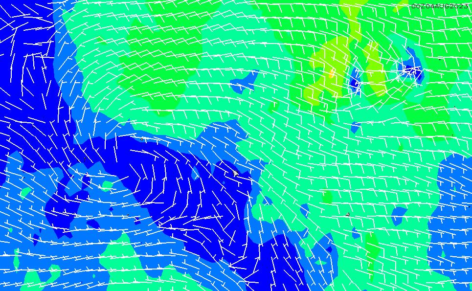 2020/4/2(木)23:00風速・風向