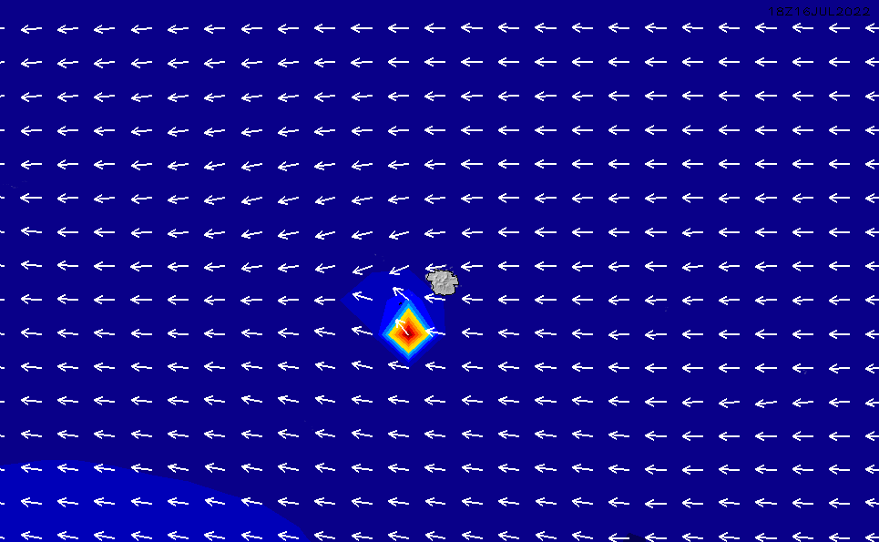 2020/4/2(木)23:00ポイントの波周期