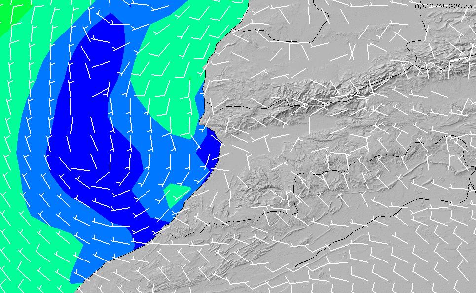 2020/9/25(金)1:00風速・風向