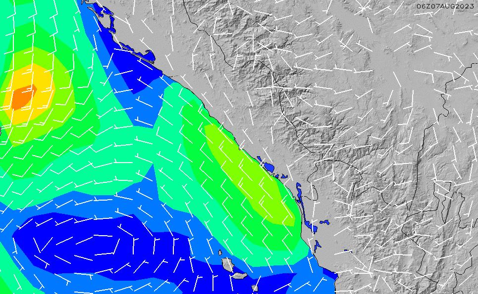 2020/9/30(水)0:00風速・風向