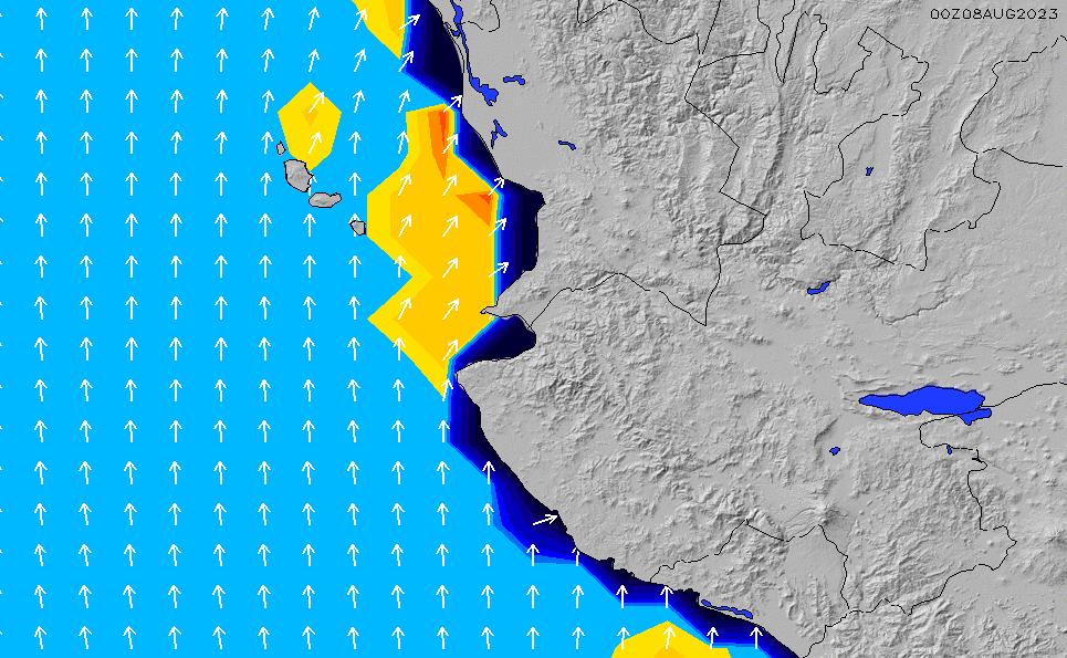 2021/2/28(日)12:00ポイントの波周期