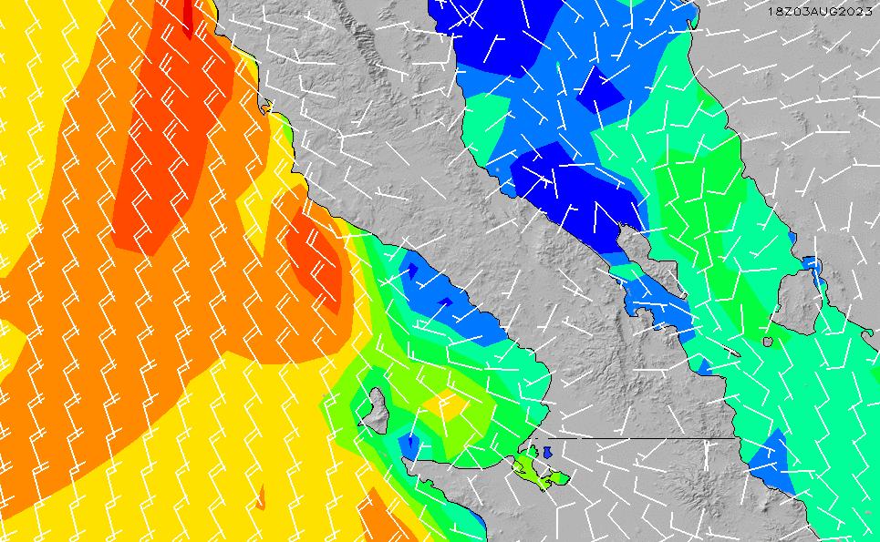 2021/3/10(水)14:00風速・風向