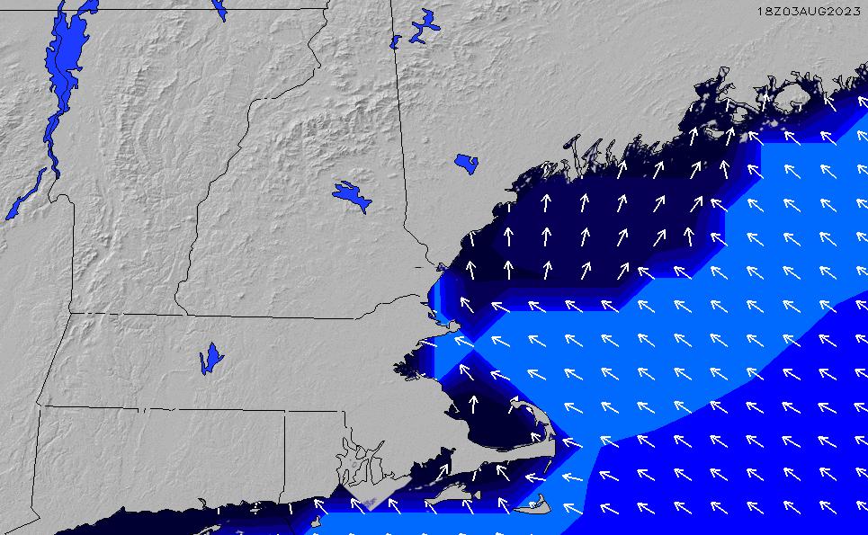 2021/2/28(日)23:00ポイントの波周期