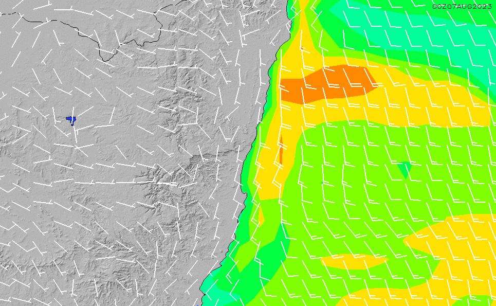 2021/5/12(水)16:00風速・風向