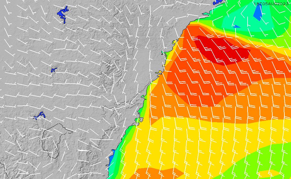 2021/10/24(日)17:00風速・風向