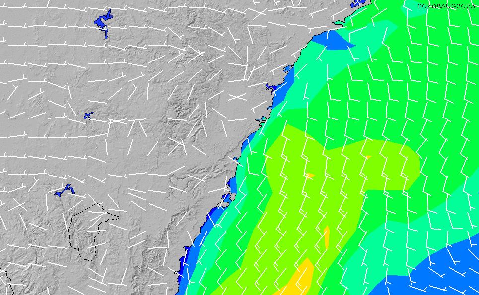 2021/3/10(水)17:00風速・風向