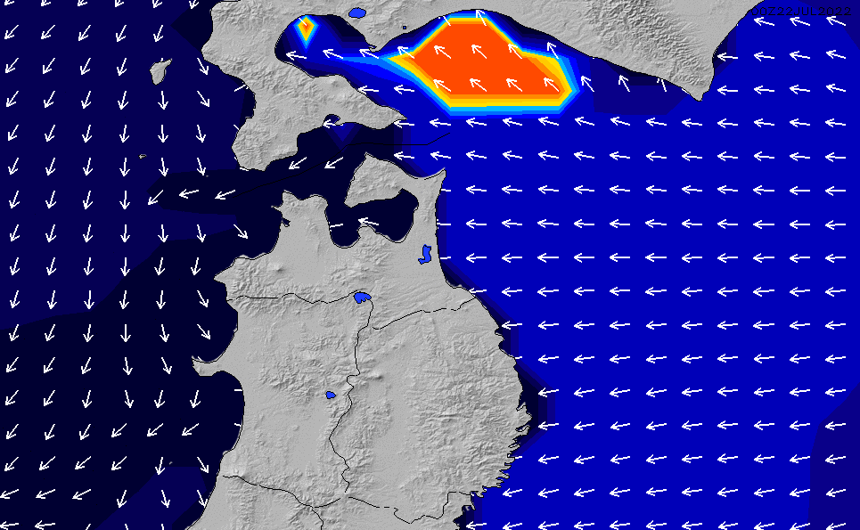 2021/2/27(土)21:00ポイントの波周期