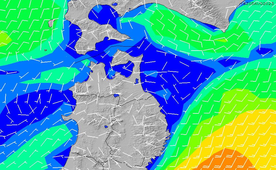 2021/5/17(月)21:00風速・風向