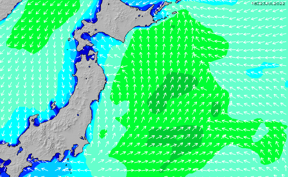 2021/2/28(日)9:00波高チャート
