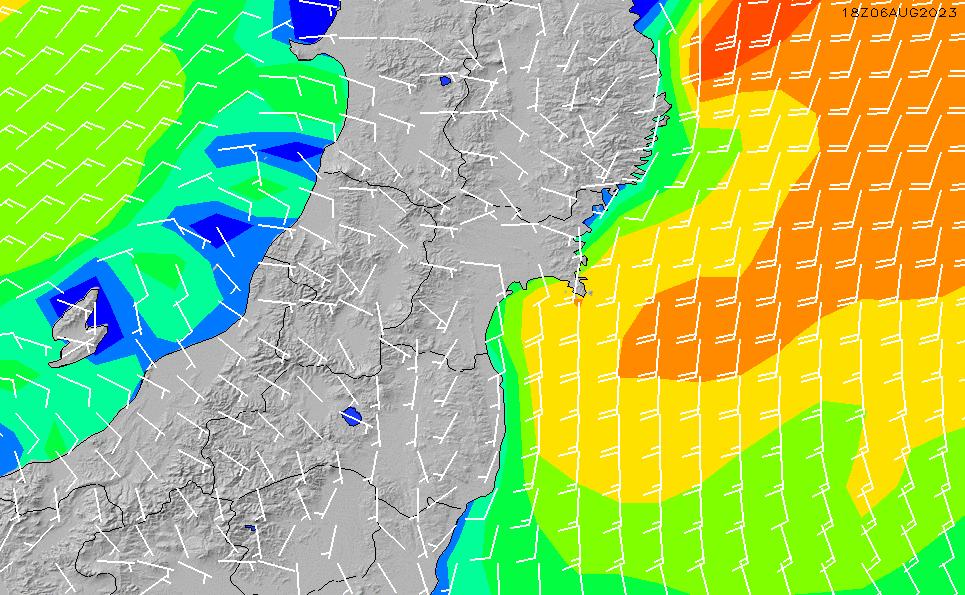 2020/11/26(木)9:00風速・風向
