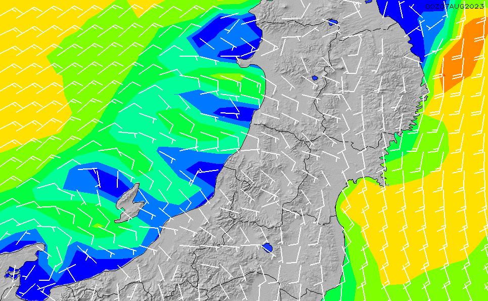 2020/2/28(金)9:00風速・風向