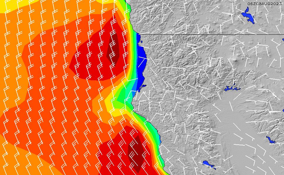 2020/9/21(月)13:00風速・風向