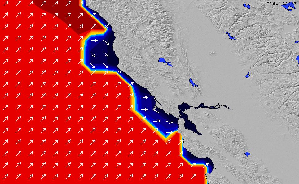 2021/6/16(水)19:00ポイントの波周期