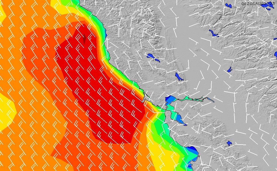 2021/6/16(水)19:00風速・風向