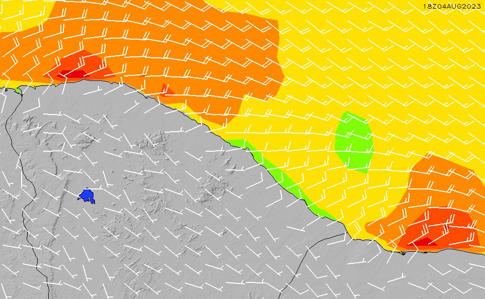 2020/10/1(木)15:00風速・風向