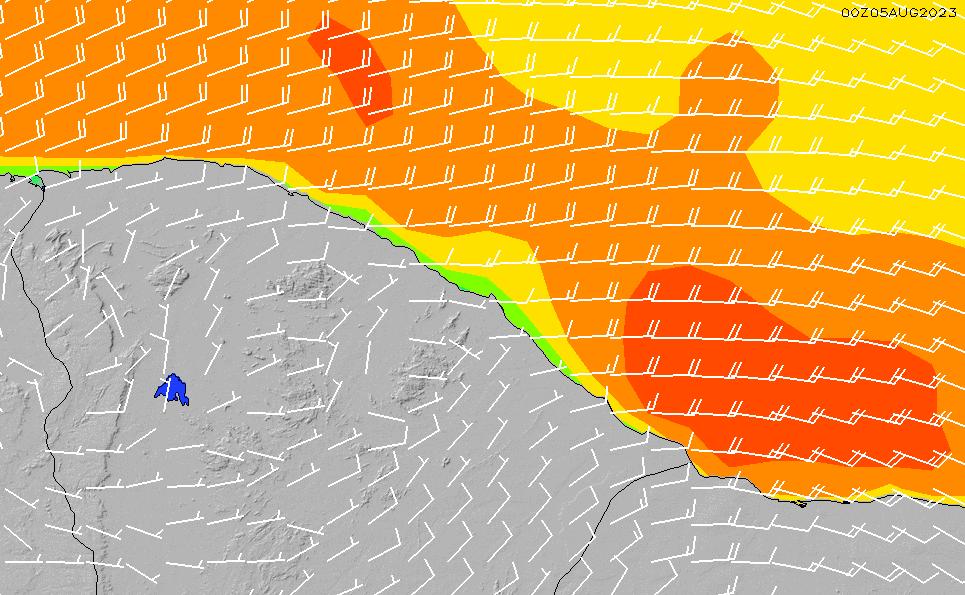 2021/4/11(日)21:00風速・風向
