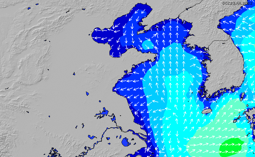 2021/2/25(木)20:00波高チャート